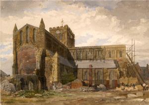 Hexham Abbey 19thC rebuilding