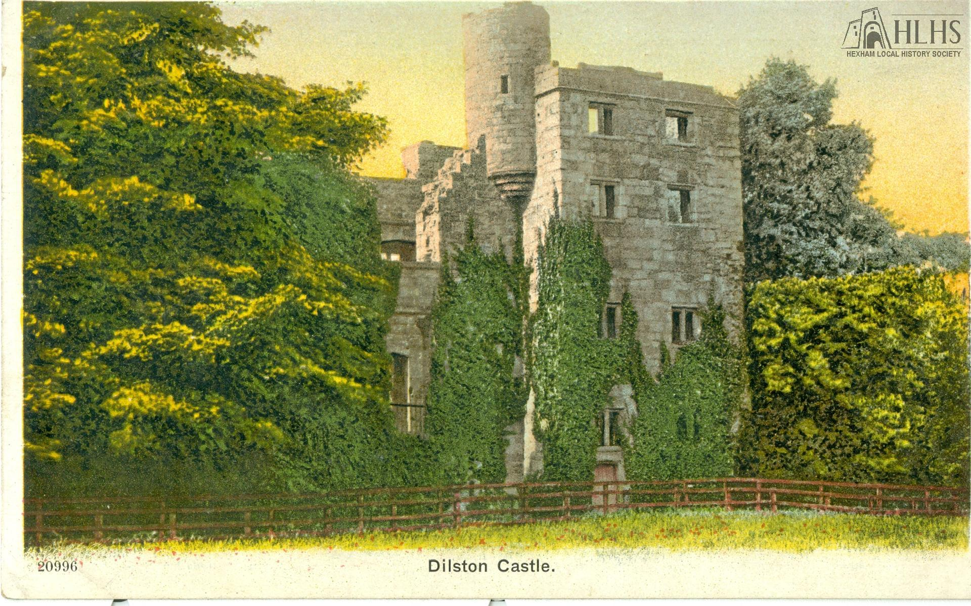 c1910?: Dilston Castle. Tinted; E face