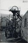 c1920: Settlingstones mine, Ellen shaft headgear (Ellen shaft served as alternative exit and ventilation downcast vent)